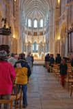 Altar von Vezelay-Abtei im Burgund Franche Comte in Frankreich Lizenzfreie Stockbilder