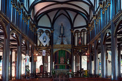 Altar in Wooden church Royalty Free Stock Photo