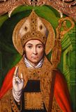 Altarbild von St. Nicolas in Monaco-Kathedrale stockfoto