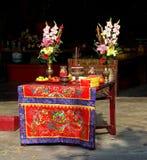 Altare ad un tempio in Taiwan Fotografie Stock