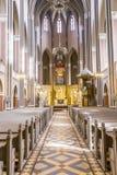 Altare all'interno del Marktkirche (chiesa del mercato) a Wiesbaden Immagine Stock Libera da Diritti