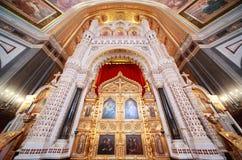 Altare all'interno della cattedrale di Christ il salvatore Fotografia Stock