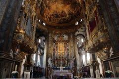 Altare alla basilica Santa Maria della Steccata, Parma Fotografie Stock