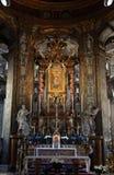 Altare alla basilica Santa Maria della Steccata, Parma Immagine Stock