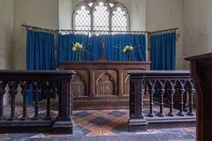 Altare Alveringham della chiesa di St Mary immagine stock libera da diritti