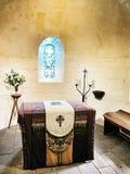 Altare antico nel castello del edinburch, Scozia Fotografia Stock Libera da Diritti