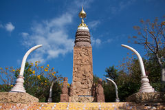 Altare av Buddha i Wat Phra Dhat Phasornkaew Royaltyfri Bild
