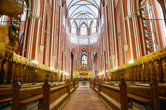 Altare av den Doberan domkyrkan (dåliga Doberan) Fotografering för Bildbyråer