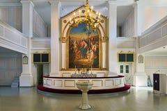 Altare av den gamla kyrkan av Helsingfors, Finland arkivfoton