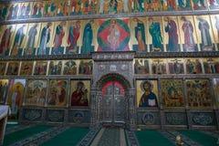 Altare av den Iversky domkyrkan Royaltyfria Bilder