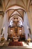 Altare av den Severin kyrkan i Erfurt, Thüringen, Tyskland royaltyfri bild