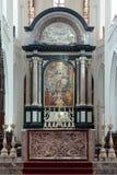 Altare av domkyrkan av vår dam i Antwerp, Bel royaltyfri fotografi