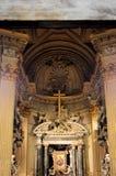 Altare av en kristen kyrka arkivbild