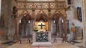 Altare av ev Stiftskirche - Tuebingen royaltyfri fotografi