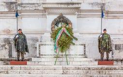 Altare av fäderneslandet i Rome Italien Arkivbilder