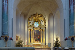 Altare av Hedvig Eleonora Church i Stockholm royaltyfri bild