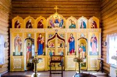 Altare av kyrkan Royaltyfria Bilder