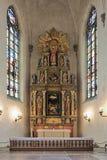 Altare av Saint James kyrka i Stockholm, Sverige arkivbild
