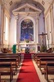 Altare av sjukhuset de Jesus Cristo Church fotografering för bildbyråer