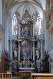 Altare av St. James Church i Kutna Hora, tjecktekniker arkivbilder