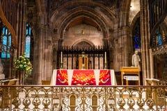 Altare B della cattedrale di Manchester Fotografia Stock