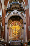 Altare in basilica San Petronio nella città di Bologna Fotografie Stock Libere da Diritti