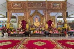 Altare birmano del tempio buddista di Dhammikarama Immagini Stock Libere da Diritti