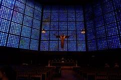 Altare blu Fotografia Stock