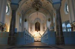 Altare blu della chiesa a Bratislava Immagine Stock
