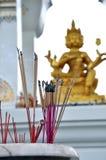 Altare Brahma di incenso Fotografie Stock