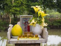 Altare buddista Fotografie Stock