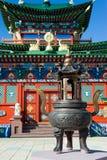 Altare buddista di incenso Fotografia Stock