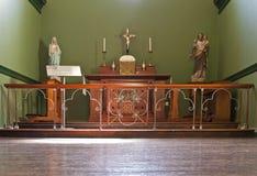 Altare in cappella Immagine Stock