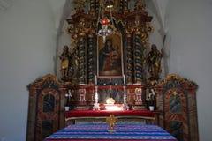Altare in cappella Fotografia Stock Libera da Diritti