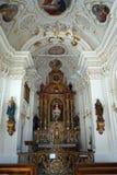 Altare in cappella Fotografia Stock