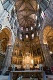 Altare in cattedrale di Avila, Spagna Fotografie Stock Libere da Diritti