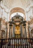 Altare in cattedrale di Cadice, Spagna del sud Fotografia Stock