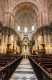 Altare in cattedrale di Cadice, Spagna del sud Fotografie Stock Libere da Diritti