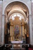 Altare in cattedrale di San Nicola a Transferrina Fotografie Stock