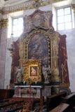 Altare in cattedrale di San Nicola a Transferrina Immagini Stock