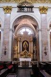 Altare in cattedrale di San Nicola a Transferrina, Slovenia Immagini Stock Libere da Diritti