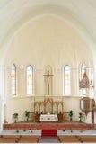 Altare in cattedrale luterana evangelica Fotografie Stock Libere da Diritti
