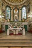Altare cattolico della chiesa di San Sebastian Fotografia Stock