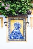 Altare cattolico in via pubblica Immagine Stock