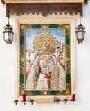 Altare cattolico in via pubblica Immagini Stock Libere da Diritti