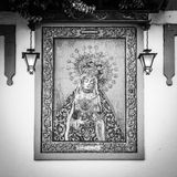 Altare cattolico in via pubblica Fotografia Stock