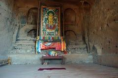Altare in caverna della roccia Fotografia Stock Libera da Diritti