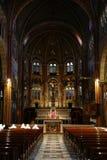 Altare centrale, chiesa di Cottolengo, Torino, Italia Immagine Stock