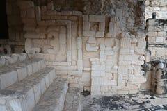 Altare cerimoniale maya a Ek Balam (giaguaro nero) nella penna di Yucatan Fotografie Stock
