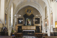 Altare in chiesa Fotografie Stock Libere da Diritti